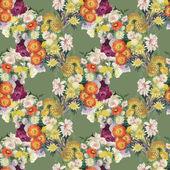 Bezešvé vzor s barevnými květy — Stock fotografie