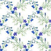Blue watercolor wildflowers — Stock Photo