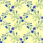 Blå akvarell blommor — Stockfoto