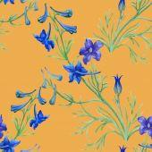 Niebieskie kwiaty akwarela — Zdjęcie stockowe