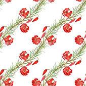 Nahtlose Muster Aquarell rote Blumen — Stockfoto