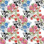 Flowers seamless pattern — Stock Photo