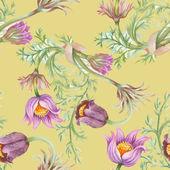Watercolor  flowers  pattern — Stock Photo
