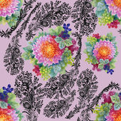 Colorful garden peony floral pattern — Stock Photo