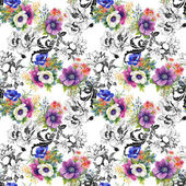 Colorful garden flowers background — Photo