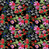 Birds with flowers colorful pattern — Stock Photo