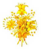 Watercolor flowers bouquet — Stock Photo