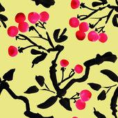 Watercolor garden rowan pattern — Stock fotografie
