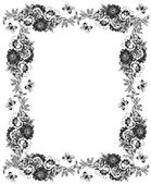 Romantic floral frame — Stock Photo