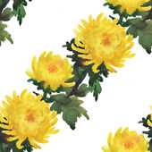 Yellow chrysanthemum flowers pattern — Stock Photo