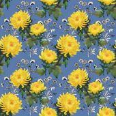 Reticolo di fiori di crisantemo giallo — Foto Stock