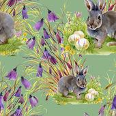 Hare med påskägg — Stockfoto