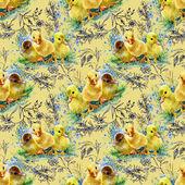 Cute watercolor ducklings — Photo