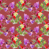 Colorful wildflowers pattern — Stock Photo