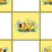 Cute watercolor ducklings — 图库照片
