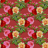 Teste padrão floral rosas — Fotografia Stock