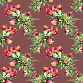 Colorful wildflowers pattern — Stockfoto