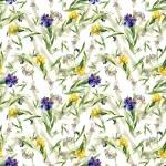 Watercolor iris flowers pattern — Stock Photo #70346181