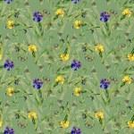 Watercolor iris flowers pattern — Stock Photo #70346183