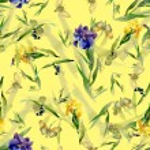Watercolor iris flowers pattern — Stock Photo #70346265