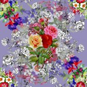 Garden floral pattern — Fotografia Stock