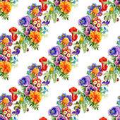 Kelebekler ile Bahçe çiçek — Stok fotoğraf
