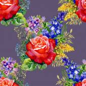 Red Roses pattern — Stock Photo