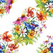 园林花卉图案 — 图库照片