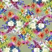 Garden floral pattern — Stock Photo