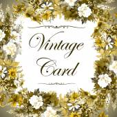 Floral vintage card — Stock Photo