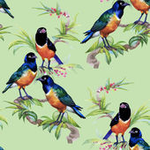 Tropical floral seamless pattern — Stock Photo