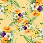 无缝花纹的黄色 — 图库照片