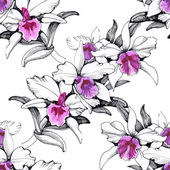 Seamless floral pattern on — Stock Photo