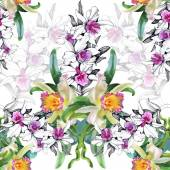 Seamless floral pattern on  white — Stock Photo