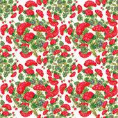Tuin bloeiende zomerbloemen — Stockvector