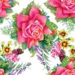 Summer roses flowers — Stock Vector #80079080