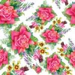 Summer roses flowers — Stock Vector #80079112