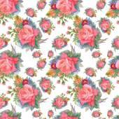 Summer roses flowers — Stock Vector