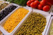 混合的蔬菜背景 — 图库照片