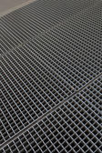 Gray shiny small grid with cells — Foto Stock