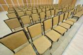 Plenty of brown seats — Stock Photo