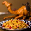 Постер, плакат: Oriental shah pilaf pilaw plov rice with meat