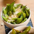 Green string beans chinese dish with spices — Stock Photo #58379521