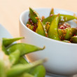 Green string beans chinese dish with spices — Stock Photo #58379643