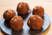 Delicious chocolate truffles — Stock Photo