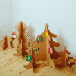 Christmas Tree Made Of Cardboard. New Year — Stock Photo #60359491