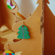 Christmas Tree Made Of Cardboard. New Year — Stock Photo #60381087