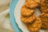 Oatmeal Cookies with Warm Fall Colors — Stock Photo