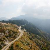 The mountain road in Montenegro. — Stock Photo