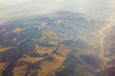 Landscape of Mountain.  view from airplane window — Stock Photo